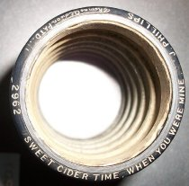 Image of Blue Amberol Cylinder-Sweet cider time when you were mine