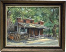Image of 1954 Oil Painting of the Woodside Store by Jean L Selby