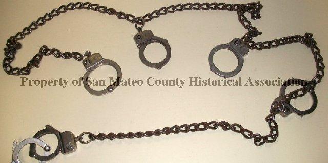 2014 018 010A-B - San Mateo County Jail handcuffs & shackle