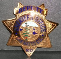 Image of SMCSO Deputy 1013 Badge