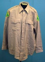 Image of Bay Meadows Security Guard Shirt Belonging to Gjon T. Pawson, c. 2001-2003