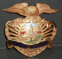 Image of SMCSO Range Master Badge Belonging to Gjon T. Pawson, c. 1981-1986