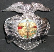 Image of SMCSO Sergeant Badge Belonging to Gjon T. Pawson, c. 1981-1986