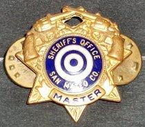 Image of SMCSO Master Badge Belonging to Gjon T. Pawson, c. 1981-1986