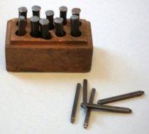 Image of c. 1945-1952 Steel Punch Die Letter Set