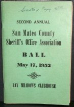 Image of Second Annual San Mateo County Sheriff's Association Ball Pamphlet, 1952