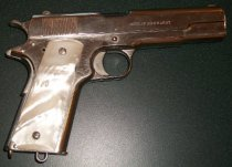 Image of SMCSO Pearl-handled Colt .45 ACP Model of 1911 U.S. Army, c. 1915
