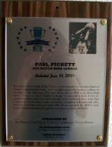 Image of Paul Pickett Peninsula Sports Hall of Fame Plaque, 2014