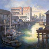 Image of Port of Redwood City, 1896 by Fred Sinclair, Jr., 2015