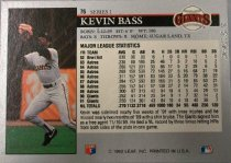 Image of Kevin Bass Baseball Card, 1991