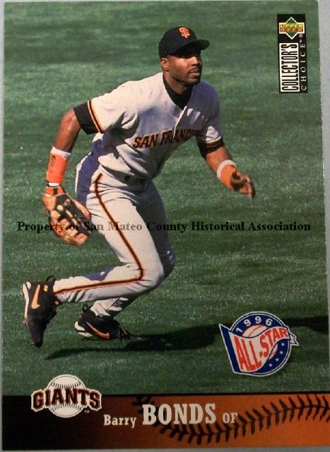 2015003025 Barry Bonds Baseball Card 1997 Upper Deck Paper Card