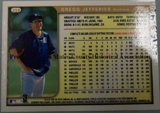 2015003043a Gregg Jefferies Baseball Card 1999 Topps