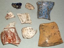 Image of Pottery Sherds Recovered from City Centre Plaza