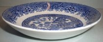 Image of Blue Willow China Shallow Bowl, c. 1981 - early 1900s