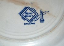 Image of Ridgeway Blue Willow Semi China Dessert Plate, 1832