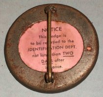 Image of Bethleham Steel ID Badge for Raymond L. Marshal