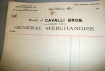 Image of Cavalli Bros. Store Receipt Form