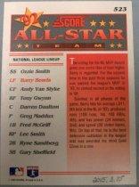 Image of Barry Bonds Baseball Card, 1993