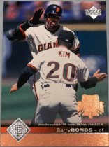 Image of Barry Bonds Baseball Card, 1996