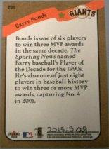 Image of Barry Bonds Baseball Card, 2002