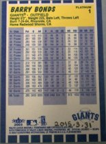 Image of Barry Bonds Baseball Card, 2003