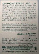 Image of Scott Feldman Baseball Card, 2010