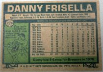 Image of Danny Frisella Baseball Card, 1977