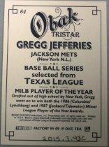 Image of Gregg Jefferies Baseball Card, 2009