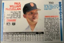 Image of Paul McClellan Baseball Card, 1991