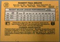 Image of Bob Melvin Baseball Card, 1986