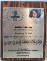 Image of Debbie Dyson San Mateo County Sports Hall of Fame Plaque, 2015