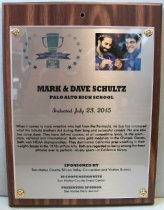 Image of Mark & Dave Schultz San Mateo County Sports Hall of Fame Plaque, 2015
