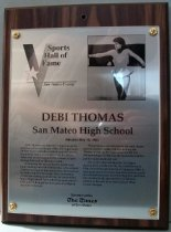 Image of Debi Thomas SMC Sports Hall of Fame Plaque, 1990