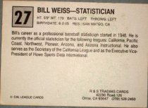 Image of Bill Weiss - Statistican California League All-Star baseball card, 1989