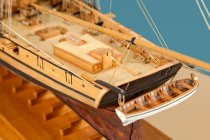 Image of Detail of Prince De Nuefchatel Model Ship by Charles Parsons, 1814