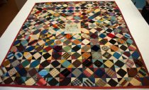 Image of Square-in-square Patchwork Quilt, c. 1883-1885
