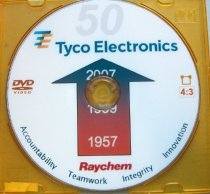 Image of Raychem 1957 to Tyco Electronics 2007 50th Anniversary DVD, 2007.