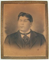 Image of Framed Print of a Portrait Drawing of Phillip Gonzales, c. 1902 - 1922