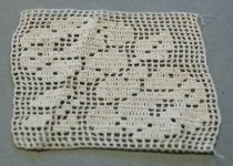 Image of Crocheted Tablecloth Section, n.d.