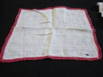 Image of Linen Handkerchief with Tatted Edging, c. 1900-1940
