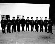 Image of 2015.001.00436.1 - Burlingame Police Officers and Mascot, August 1949