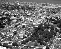 Image of 2015.001.00706.9 - Aerial View of Downtown San Mateo, 1957