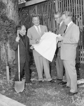 Image of Beniamino Bufano and David D. Bohannon Breaking Ground for Bufano's Studio