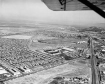 Image of Aerial View of San Mateo County Fairgrounds and Bay Meadows Race Track, 196