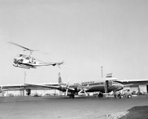 Image of 2015.001.01400.20 - Pan American CD-6 Cargo Plane and Hiller Helicopter, 1960