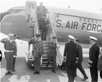 Image of President Dwight Eisenhower Arriving at SFO, 1960