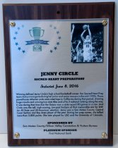 Image of Jenny Circle Peninsula Sports Hall of Fame Plaque, 2016