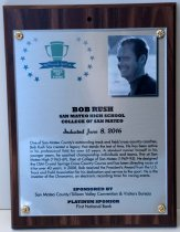 Image of Bob Rush Peninsula Sports Hall of Fame Plaque, 2016