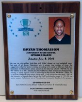 Image of Bryan Thomasson Peninsula Sports Hall of Fame Plaque, 2016