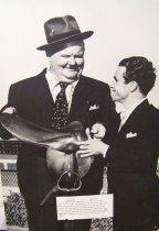 Image of Oliver Hardy With Jockey